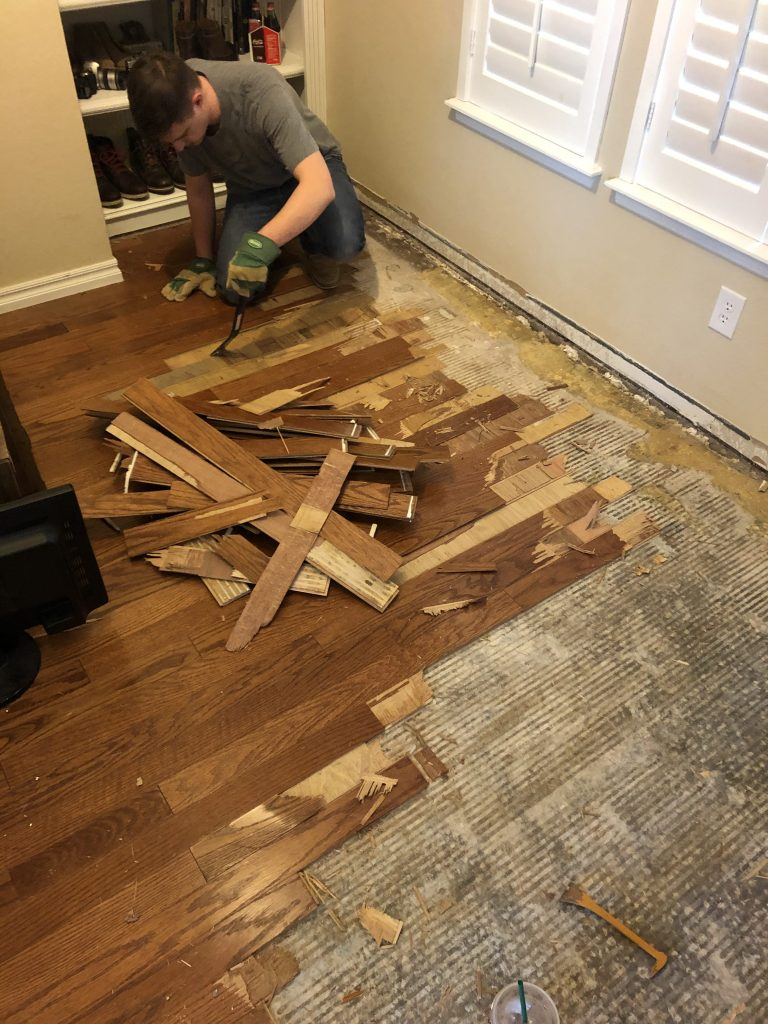 Removing Office Flooring